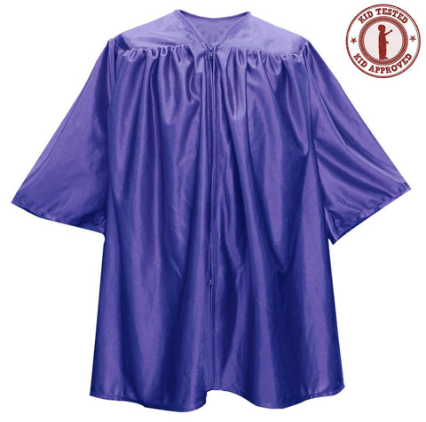 Child Purple Graduation Gown - Preschool & Kindergarten Gowns