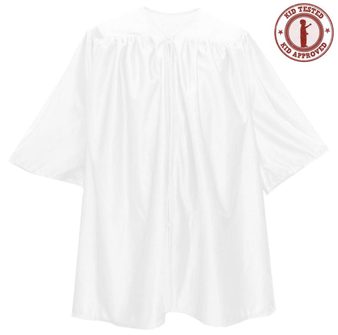 Child White Graduation Gown - Preschool & Kindergarten Gowns