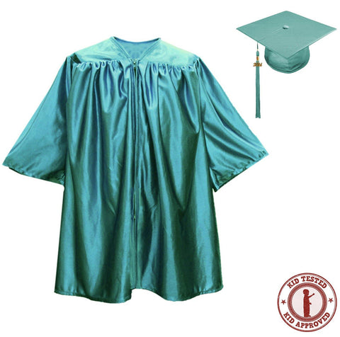 Child Emerald Graduation Cap & Gown - Preschool & Kindergarten