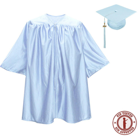 Child Light Blue Graduation Cap & Gown - Preschool & Kindergarten - Graduation Attire