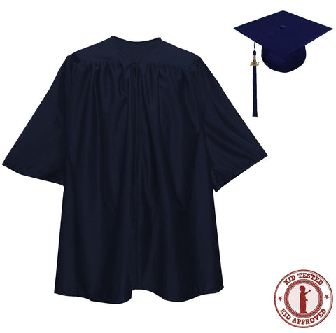 Child Navy Blue Graduation Cap & Gown - Preschool & Kindergarten