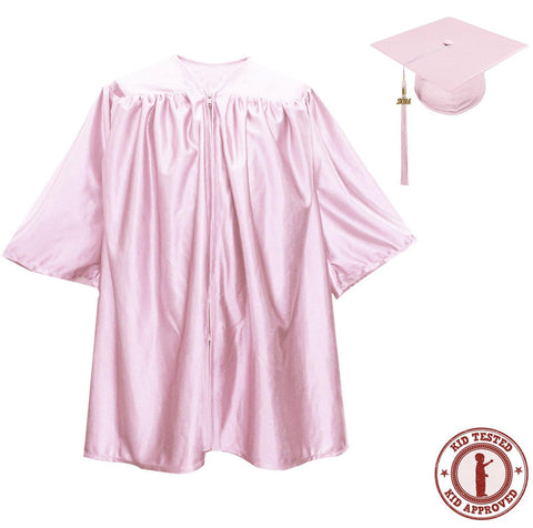 Child Pink Graduation Cap & Gown - Preschool & Kindergarten