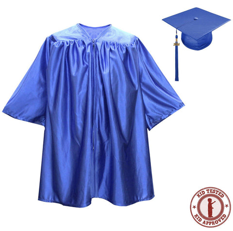 Child Royal Blue Graduation Cap & Gown - Preschool & Kindergarten