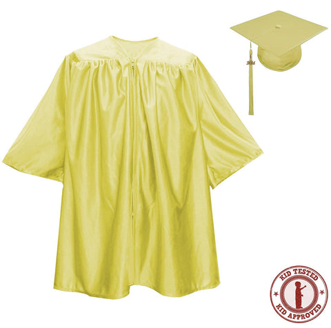 Child Gold Graduation Cap & Gown - Preschool & Kindergarten - Graduation Attire