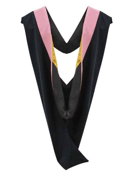 IN-STOCK GRADUATION MASTER HOOD -  PINK  VELVET