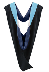 IN-STOCK GRADUATION MASTER HOOD -  LIGHTBLUE VELVET - Graduation Cap and Gown