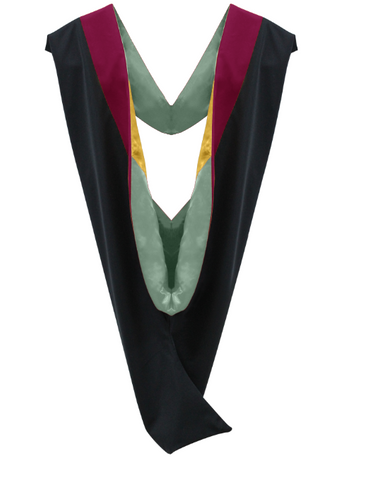 IN-STOCK GRADUATION MASTER HOOD -  CRIMSON VELVET