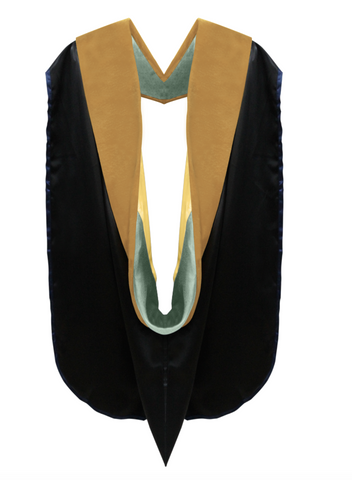 IN-STOCK GRADUATION DOCTORAL HOOD - DRAB VELVET