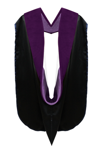 Doctor of Law Hood - Purple & White - Graduation Attire