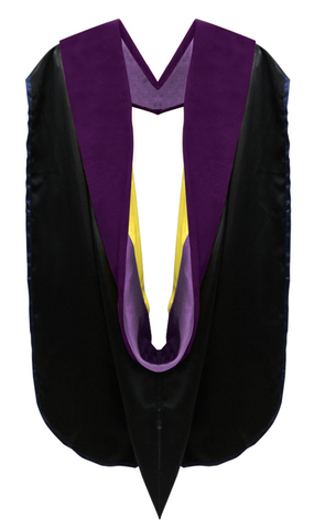 Doctor of Law Hood - Purple & Gold - Graduation Attire