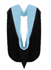 Doctor of Education Hood - Light Blue & White - Graduation Attire