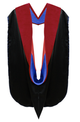 Doctor of Theology Hood - Royal Blue & Scarlet - Graduation Attire
