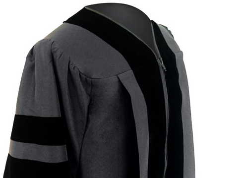 Classic Doctoral Graduation Gown - Academic Regalia - Graduation Attire
