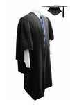 Deluxe Black Bachelors Graduation Mortarboard & Gown - Graduation UK