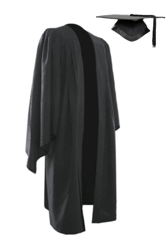 Classic Black Bachelors Graduation Mortarboard & Gown - Graduation UK