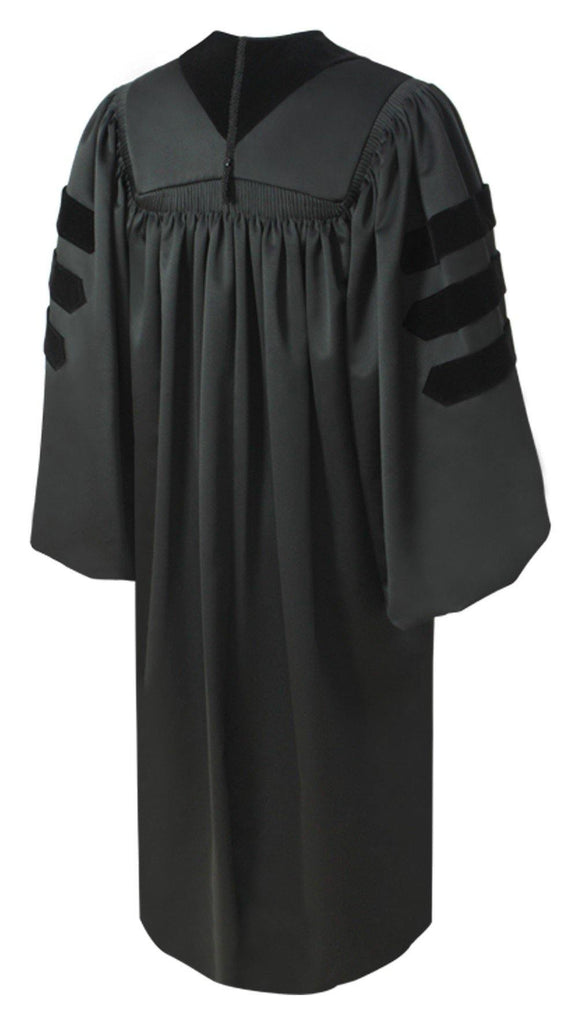 Deluxe Doctoral Graduation Gown - Academic Regalia - Graduation Cap and Gown