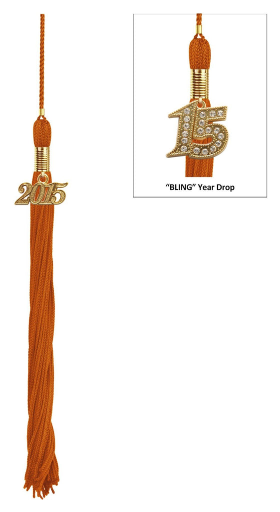 Orange Graduation Tassel - College & High School Tassels - Graduation Cap and Gown