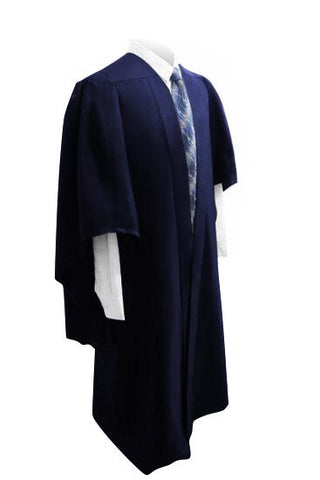 Deluxe Navy Bachelors Graduation Gown - UK University Gown - Graduation UK