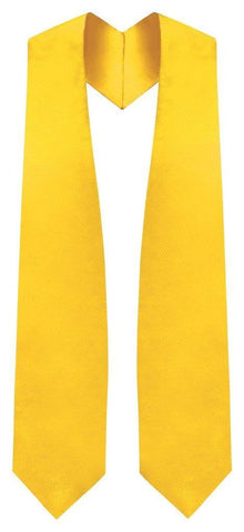 Gold Graduation Stole - Gold College & High School Stoles
