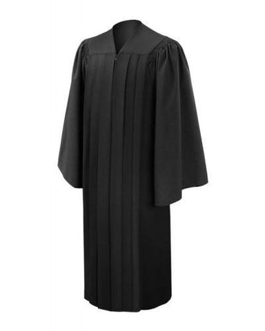 Deluxe Black Bachelors Graduation Gown - Academic Regalia - Graduation Cap and Gown