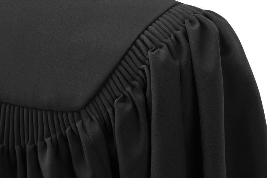 Deluxe Black Bachelors Graduation Gown - Collegiate Regalia - Graduation Cap and Gown