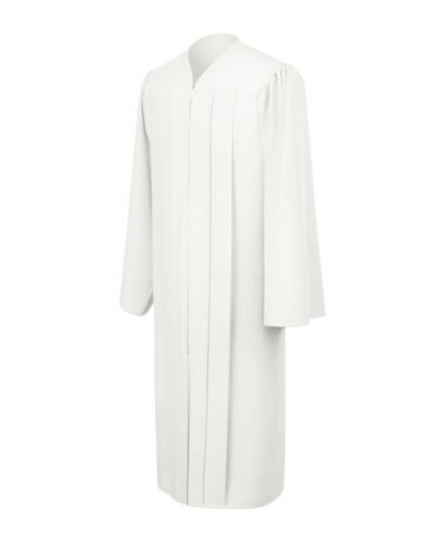 Matte White Bachelors Graduation Gown - College & University - Graduation Cap and Gown