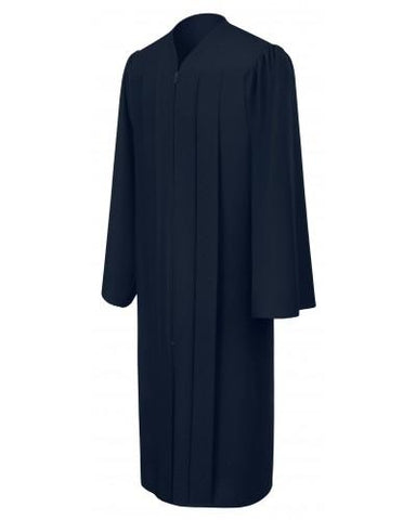 Matte Navy Blue Bachelors Graduation Gown - College & University - Graduation Cap and Gown
