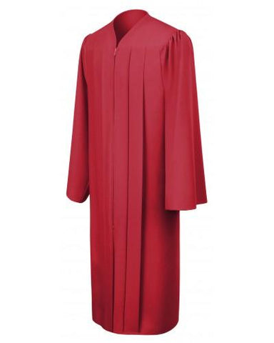 Matte Red Bachelors Graduation Gown - College & University - Graduation Cap and Gown