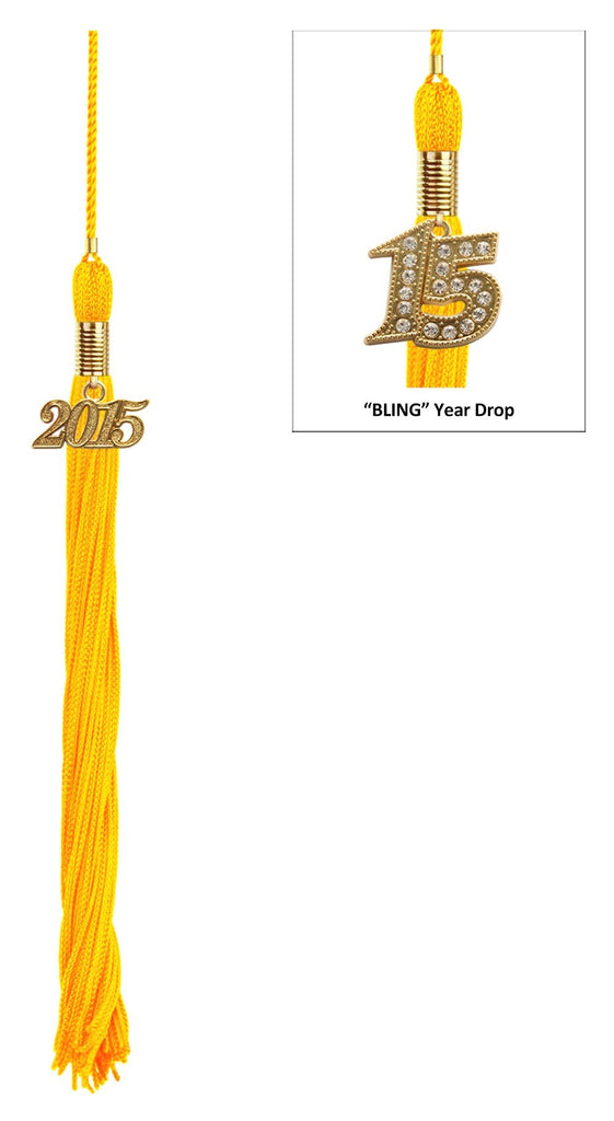 Matte Gold High School Graduation Cap and Gown - Graduation Cap and Gown