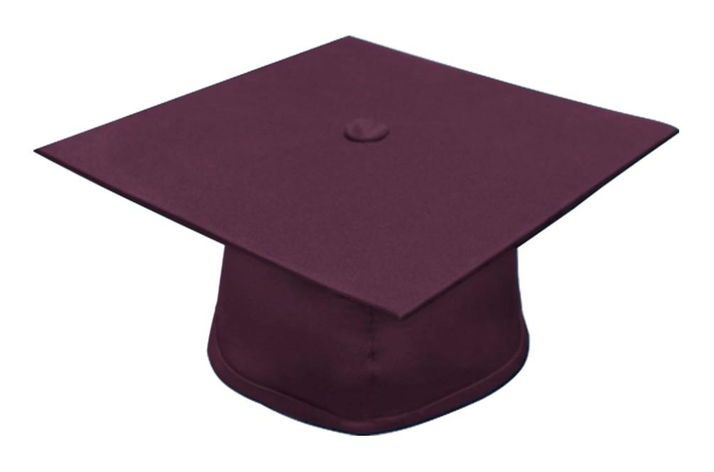 Matte Maroon Bachelors Graduation Cap - College & University - Graduation Cap and Gown