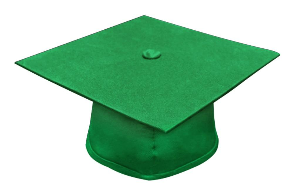 Matte Green Bachelor Cap - Graduation Cap and Gown