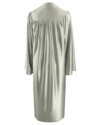 Shiny Silver Bachelors Graduation Gown - College & University - Graduation Cap and Gown