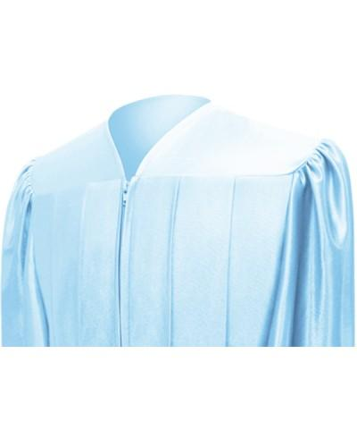 Shiny Light Blue High School Graduation Cap and Gown - Graduation Cap and Gown
