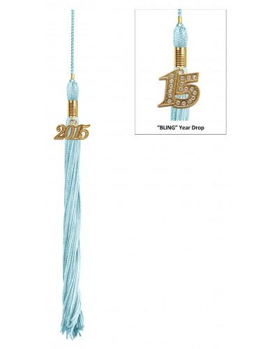 Shiny Light Blue Bachelors Cap & Gown - College & University - Graduation Cap and Gown