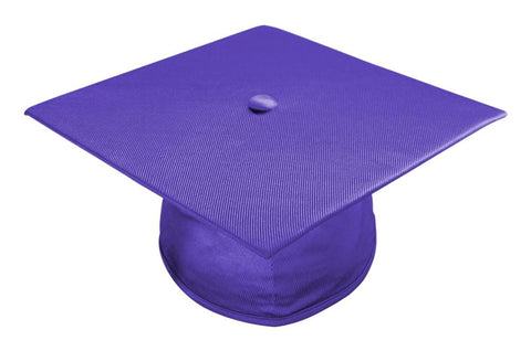Shiny Purple Bachelors Graduation Cap - College & University - Graduation Cap and Gown