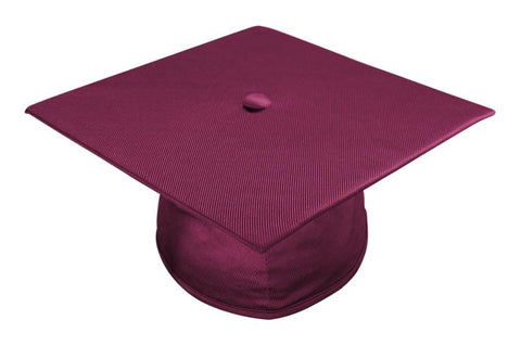 Shiny Maroon Bachelors Graduation Cap - College & University - Graduation Cap and Gown