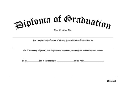 College/High School Diploma - Graduation Diplomas - Graduation Cap and Gown