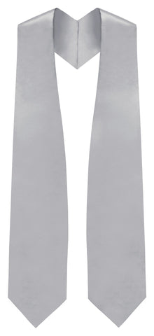 Silver Graduation Stole - Silver College & High School Stoles - Graduation Cap and Gown