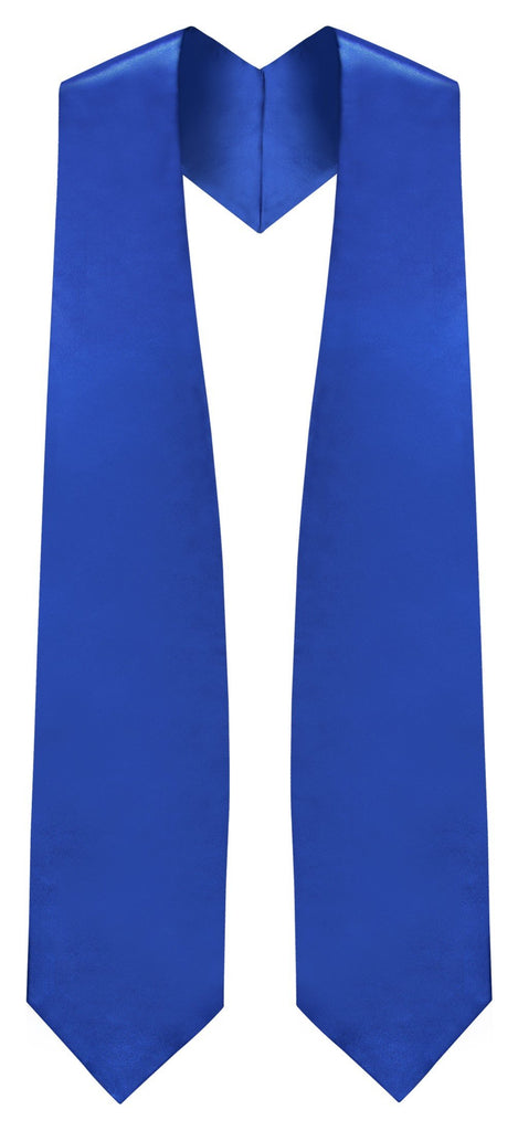 Royal Blue Graduation Stole - Royal College & High School Stoles - Graduation Cap and Gown
