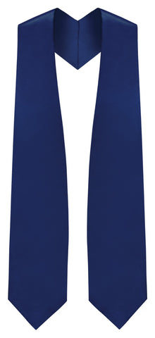 Navy Blue Graduation Stole - Navy College & High School Stoles - Graduation Cap and Gown