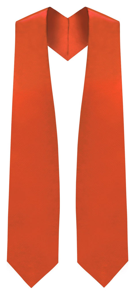 Orange Graduation Stole - Orange College & High School Stoles - Graduation Cap and Gown
