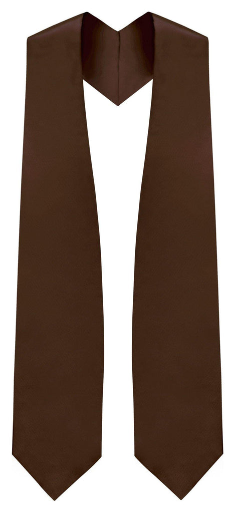 Brown Graduation Stole - Brown College & High School Stoles - Graduation Cap and Gown