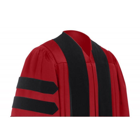 Deluxe Red Doctoral Gown