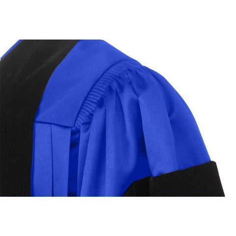 Deluxe Royal Blue Doctoral Gown