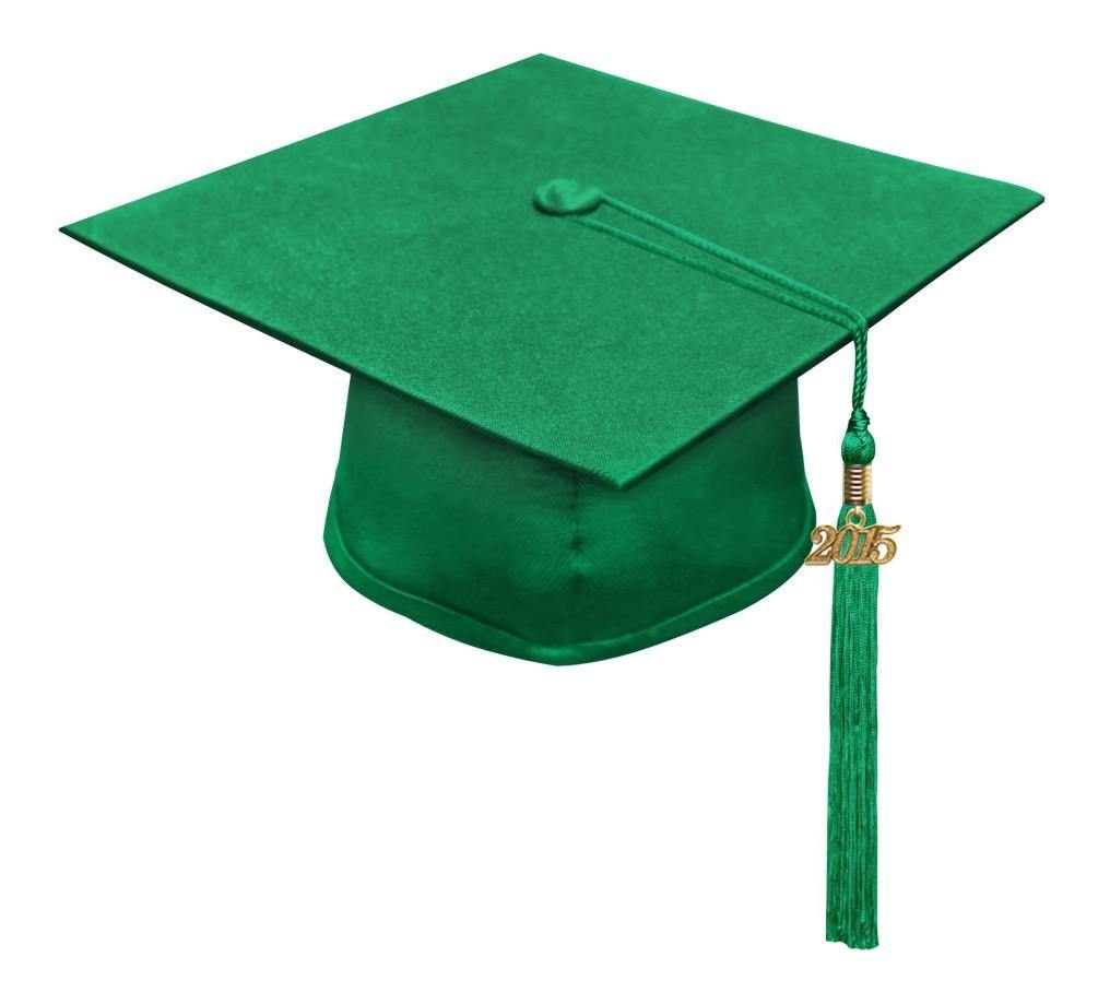 Eco-Friendly Emerald Green High School Cap & Tassel - Graduation Caps - Graduation Cap and Gown