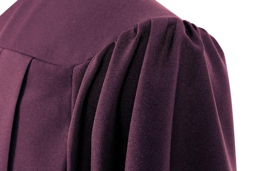 Matte Maroon High School Graduation Gown - Graduation Cap and Gown