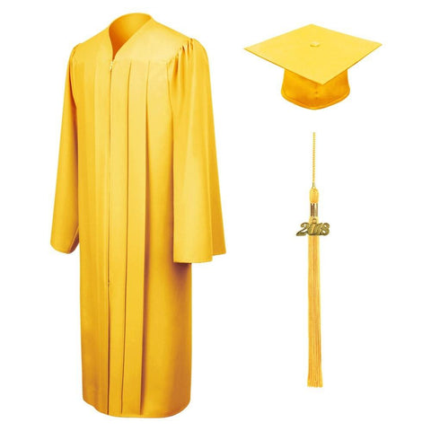 Matte Gold Bachelors Cap & Gown - College & University