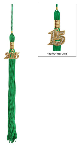 Matte Green High School Cap & Tassel - Graduation Cap and Gown