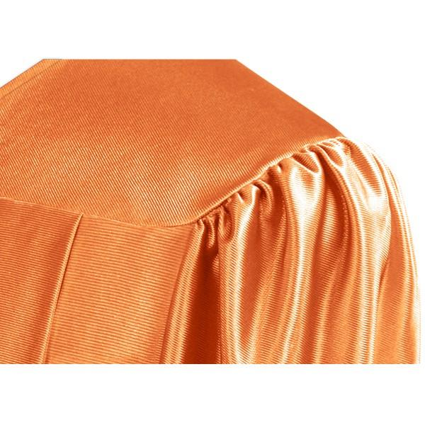 Shiny Orange High School Graduation Gown - Graduation Cap and Gown