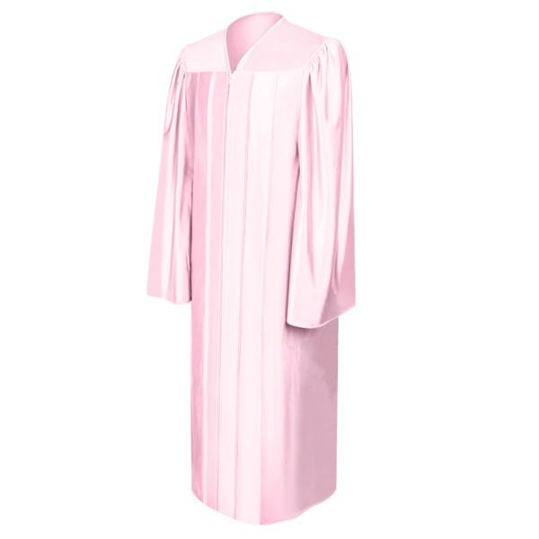 Shiny Pink High School Graduation Gown - Graduation Cap and Gown